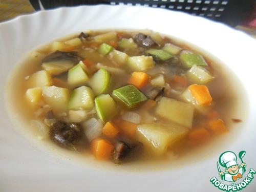 Грибной суп с чечевицей рецепт с фото
