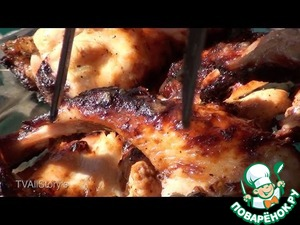 Рецепт Шашлык из крылышек с аджикой в томате