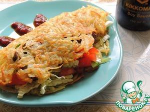 Рецепт Мясо с овощами в картофельных блинах