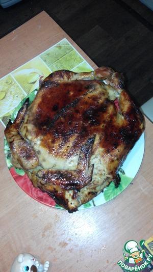 Рецепт Курица, фаршированная блинами и соей