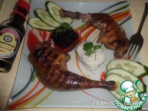 Как готовить Цесарка-гриль с черным и белым рисом рецепт приготовления с фото