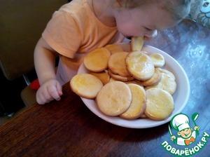 Рецепт Коржик молочный на сахарном сиропе