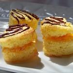 Печенье с джемом и шоколадными полосочками