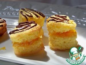 Рецепт Печенье с апельсиновым джемом и с шоколадными полосочками