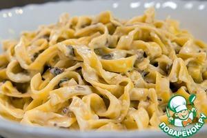 Рецепт Паста в сливочном соусе с грибами