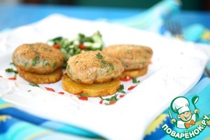Рецепт Азиатские рыбные котлеты с огуречным чили салатом