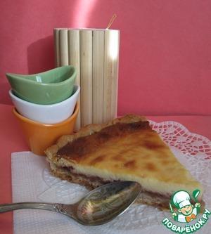 Рецепт Пирог на постном тесте с вареньем и творогом