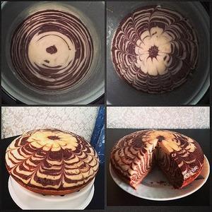 "Рецепт: Пирог ""Зебра"" в мультиварке"