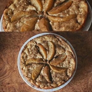 Рецепт Шарлотка с творогом или манник с яблоками в мультиварке