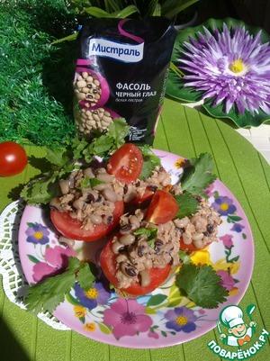 Рецепт Сэндвич с белой фасолью, тунцом и помидорами