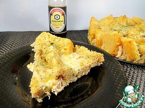 Пирог с куриным филе пошагово с