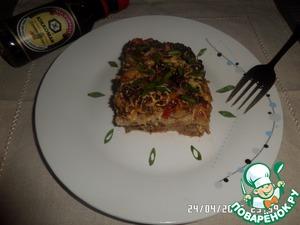 Как готовить рецепт с фотографиями Мясная запеканка с начинкой из лаваша
