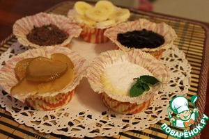 Рецепт Творожные кексы-сырники в микроволновке за 5 мин