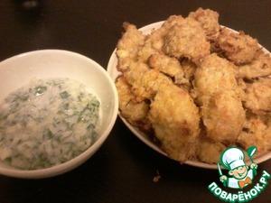 Рецепт Нежная курочка в сыре и чипсах с легким соусом