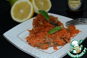 Рецепт Пикша под лимонно-морковным соусом