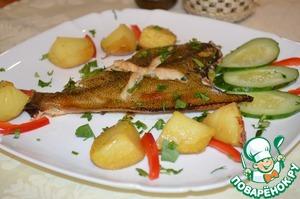 Рецепт Камбала запеченная в меде
