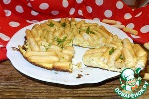 Рецепт Омлет с сырными палочками