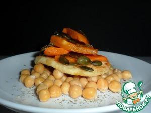 Рецепт Нут с жареным сыром и печеной тыквой