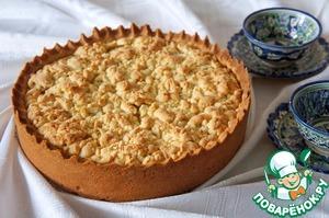 Рецепт Пирог с творогом и фруктами