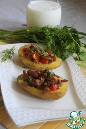 Рецепт Картофель, фаршированный рагу