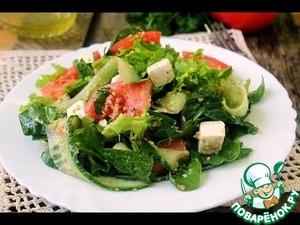 Рецепт Овощной салат с фетой