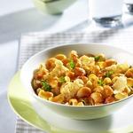 Пипе ригате с чипсами из пармезана и соусом базилико