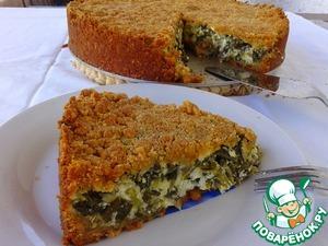 Рецепт Закрытый сырный тарт со шпинатом