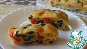 Рецепт Кекс с помидорами и маслинами