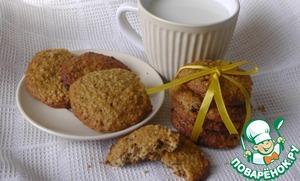 Рецепт Овсяное печенье с клюквой, шоколадом и орехами