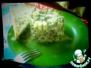 Рецепт Вкусный печеночный салатик