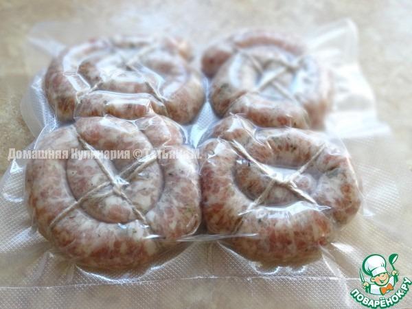 домашние колбаски в духовке рецепт с фото пошагово в