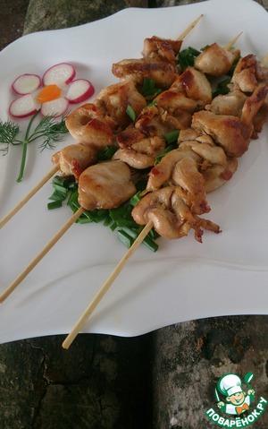 Рецепт Куриные шашлыки в соево-имбирном маринаде