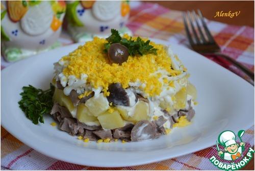 Рецепты салатов из сердца и грибов с фото