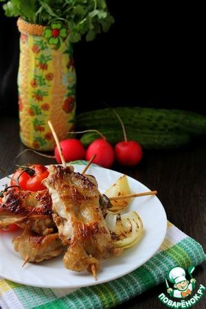 Рецепт Шашлык из куриных бедрышек