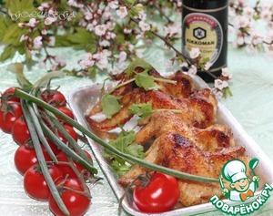 Рецепт Куриные крылышки в горчично-медовой глазури