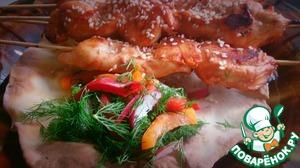 Рецепт Куриные шашлычки в духовке