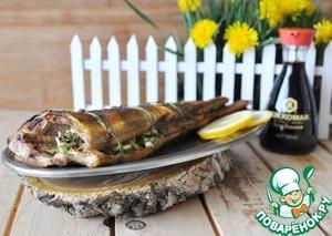 Рецепт Окунь-гриль с луком-пореем