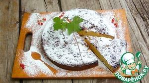 Рецепт Пирог с рикоттой, белым шоколадом и ягодами