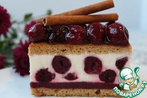 Рецепт Медовые пирожные с парфе и вишней