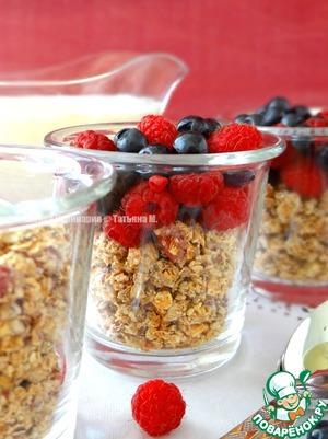 Рецепт Домашняя гранола с ягодами