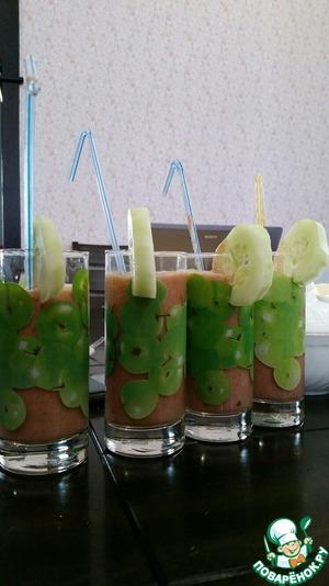 Рецепт Смузи томатно-огуречный с зеленью