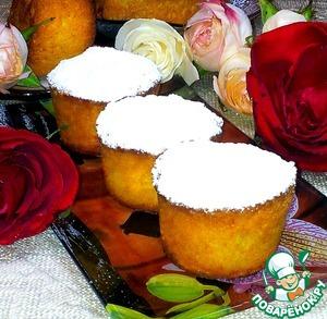 Рецепт Жёлтые кексы со сливами