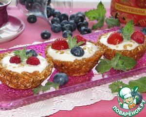 Рецепт Овсяные корзиночки с ягодами и кристаллами сахара
