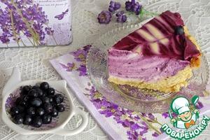 """Рецепт Творожный торт """"Черничное наслаждение"""""""