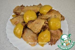 Рецепт Утка с яблоками в мультиварке