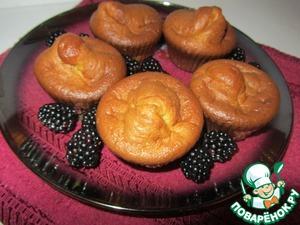 Рецепт Сырные кексы с ежевикой