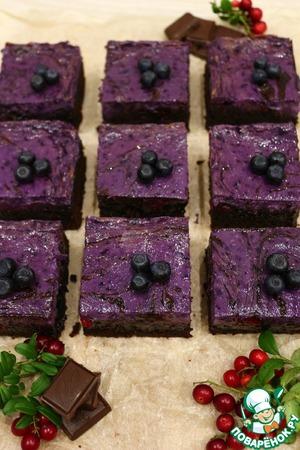 Рецепт Брауни с сливочным сыром и лесными ягодами