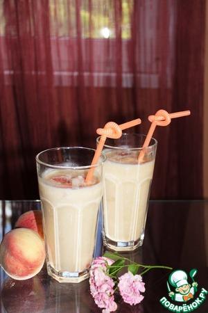 Рецепт Персиково-рисовый смузи с кокосовой стружкой