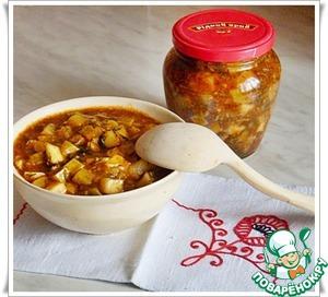 Рецепт Кабачки на зиму с томатной пастой