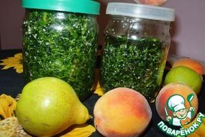 Рецепт Засолка петрушки на зиму